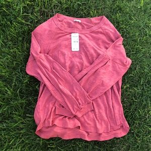 NWT Splendid Red Sleeved Top Size L